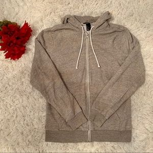 H&M Basics Zip Up Tan/Cream Coloured Hoodie